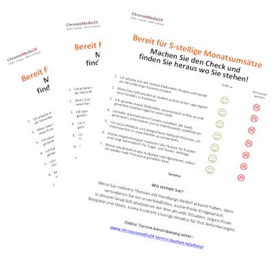 Wieland Reinhardt Checkliste 5-stellige Monatsumsätze
